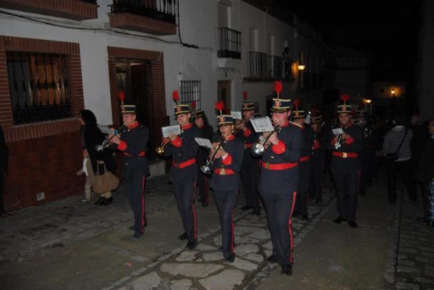 La Agrupación San Sebastián, durante el Vía Crucis Magno del 22 de marzo de 2013. FOTO: ÁNGEL MEDINA