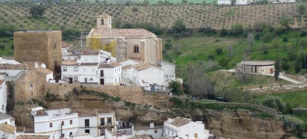 El Museo del Olivo se asoma en esta imagen del Torreón. Foto: Pedro Andrades