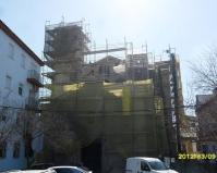 Fachada de la Iglesia en marzo de 2012