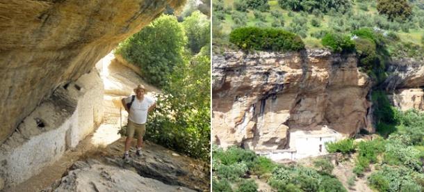 Las Cuevas Román, a laizquierda, y Peña Caída, en los escarpes del Río Trejo.