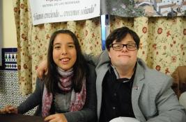 Pablo Pineda con Bárbara. Foto: ÁNGEL MEDINA LAÍN.