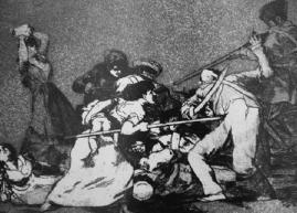 """Grabado de Goya. """"Los desastres de la guerra""""."""