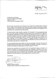 Carta del presidente de la Asociación de la Prensa de Sevilla, Rafael Rodríguez, al alcalde de Setenil