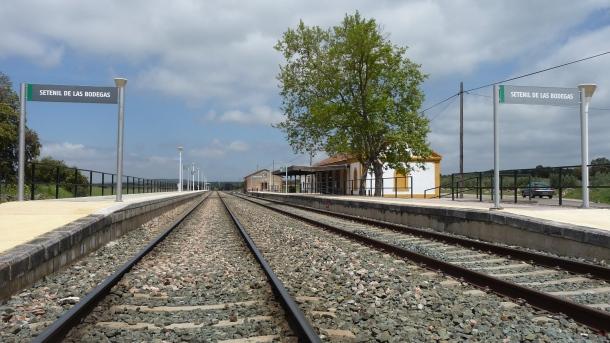 Imagen actual de la estación de Setenil.Foto: P. A.