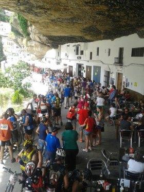 Excepcional foto de José Manuel Fernández del paso del 101 km por Las Cuevas.