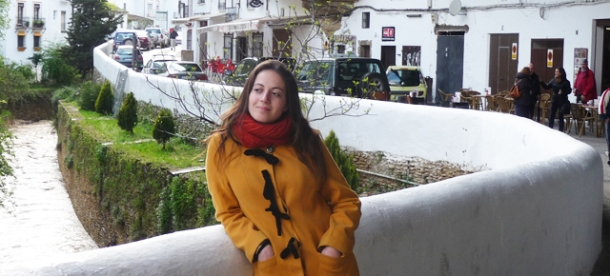 María Villalón en Las Cuevas del Sol, en Setenil. Foto: IMAGINA SETENIL