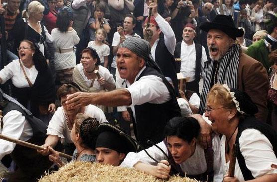 Los campesinos de la Sierra de Cádiz se rebelaron contra un Ejército de más de 5.000 hombres. En la imagen vemos la recreación que realizan en Algodonales.