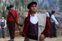 Ana Mari Romero ha vestido a muchos de los bandoleros que participan en la reconstrucción histórica de la vida de El Tempranillo en Grazalema. Foto: F. MORENO