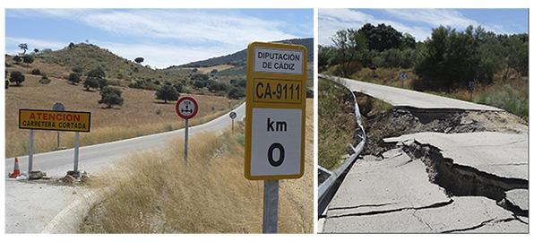 """El llamado """"Carril del Duende"""" está cortado desde marzo de 2013, hace un año y 7 meses. Foto: IMAGINA SETENIL"""