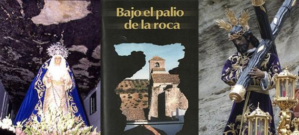 """A la izquierda, detalle de la Virgen del Rosario, en el pasadizo de las Cuevas de la Sombra. Foto de Mario G. Vargas. En el centro, portada del vídeo """"Bajo el palio de la roca"""". A la derecha, detalle de Padre Jesús girando en la Cantarería, en una foto publicada en el faceboock de Los Negros."""