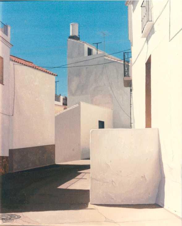 """Este cuadro de Manuel R. Cabestany se expuso en Salou en 2008, en la muestra """"Dos visiones del Mediterráneo""""."""