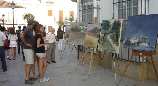 El pasado mes de junio se celebró el Concurso de pintura al aire libre en Olvera. El pueblo se convirtió en una galería al aire libre.