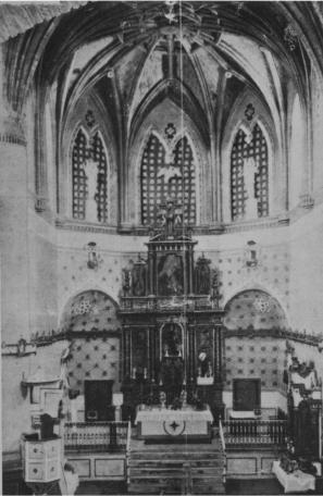 """Así era el altar a principios de siglo. Foto de 1908 recogida por Enrique Romero de Torres en el """"Catálogo de Monumentos Históricos y Artísticos de Cádiz"""", publicada en 1934."""