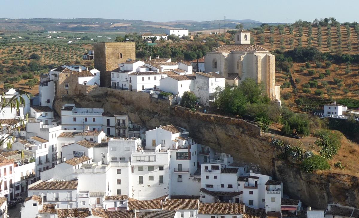 Perfil de la fortaleza de Setenil. Foto: IMAGINA SETENIL