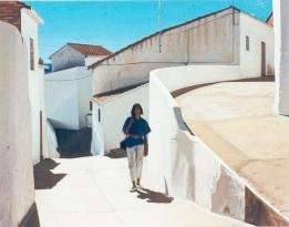 Este precioso cuadro sobre Setenil, obra de Manuel Romero Cabestany, se expuso en febrero de 2013. Esta imagen la conocimos gracias a José M. Fernández Piedra.