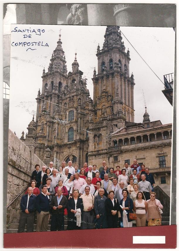 La Asociación de Mayores Xal-Denil, en una excursión a Santiago de Compostela.