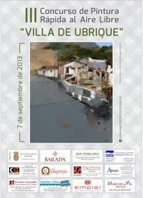 """Concurso de Pintura Rápida al Aire Libre """"Villa de Ubrique"""". 7 de Septiembre de 2013"""