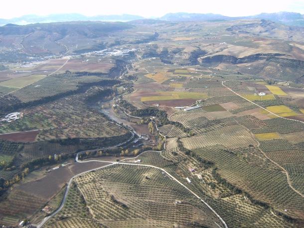 Vista del arroyo de Alcalá, tomada desde Pagodulce. Foto: JOSÉ DURÁN
