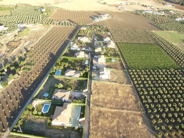 Imagen de las parcelas de El Higuerón. Foto: JOSÉ DURÁN
