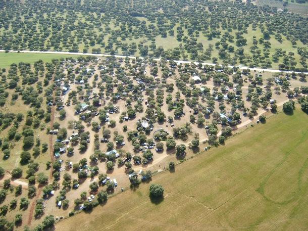 La Romería de Setenil vista desde el aire. Foto: JOSÉ DURÁN