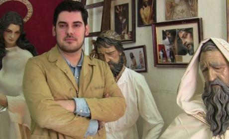 Jesús Cepeda ha realizado la restauración de las imágenes titulares de Los Negros.