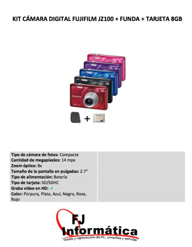 """Kit de la cámara Fujifilm que obtendrá el ganador del concurso escolar """"Me gusta Setenil"""""""