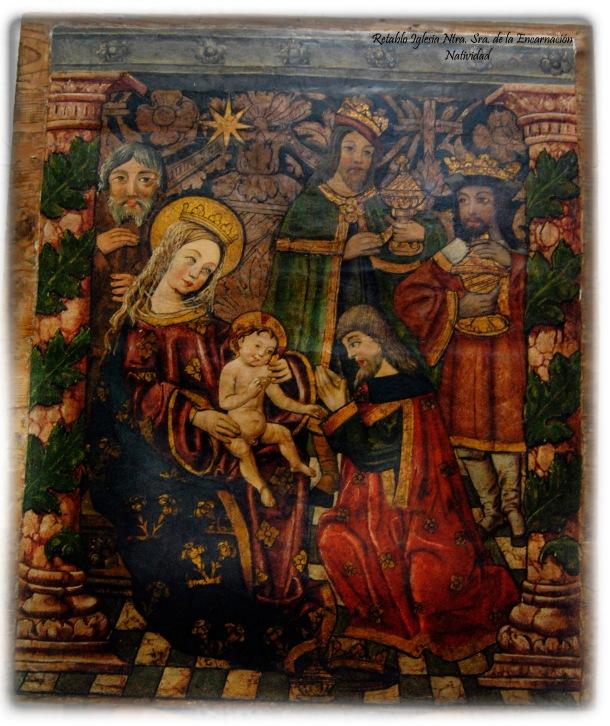 """""""La Adoración de los Reyes Magos"""", otra pintura en la que aparece la figura del niño Jesús y que ha rescatado acertadamente la Hermandad de los Blancos en sun felicitación navideña. Foto: ÁNGEL MEDINA LAÍN"""