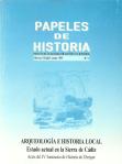 Papeles de Historia. Portada del Nº4. Junio de 1999