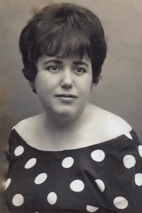 Anita Ordóñez, en sus años de juventud.