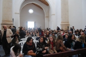 El espectáculo supuso el reencuentro de Setenil con la Iglesia de la Villa, tras dos años de restauración. El templo aún no está abierto al público. Foto. ÁNGEL MEDINA LAÍN
