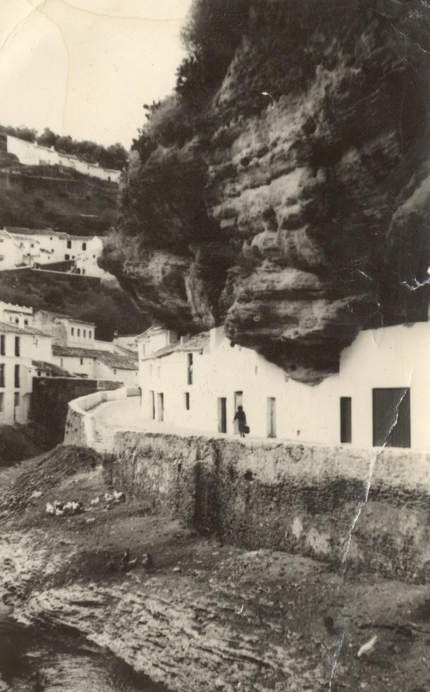 Bajada al río en Las Cuevas, en los años '70.