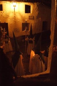 Preciosa y sobria imagen de la procesión del Amarrao. Foto: LOLI CALVENTE