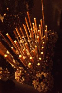 Impresionante candelería de la Virgen de los Dolores. Foto: LOLI CALVENTE