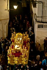 El Santo Entierro vuelve al templo de la Villa. Foto: MARIO GARCÍA VARGAS.
