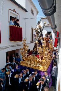 La imagen de Padre Jesús, en la salida de la calle Alta hacia la Cantarería. Foto. MARIO GARCÍA VARGAS