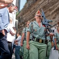 La Legión, bajo las Cuevas de la Sombra. Foto: MARIO GARCÍA VARGAS