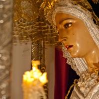 Virgen de los Dolores. Detalle que muestra toda la belleza de esta talla de Luis Álvarez Duarte. Foto: MARIO GARCÍA VARGAS