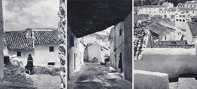 """Fotografía de Nicolás Muller incluida en el libro """"Andalucía"""" (Editorial Clave, 1967), con textos de Fernando Quiñones. Muestra un detalle de la bajada del Torreón. http://bit.ly/1pnQFig"""