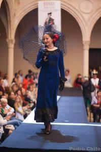"""Jessica, durante el desfile de los trajes de Ana Mari Romero. Foto: PEDRO CHITO. """"RONDA ROMÁNTICA"""""""
