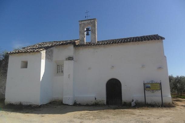 La ermita de San Sebastián, antes de la restauración.