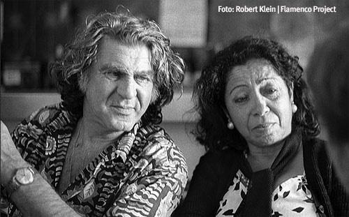 """Anzonini del Puerto, que vivió varios años en Setenil con Rosa """"la americana"""", en una imagen de 1981 con Fernanda de Utrera. Foto: Robert Klein, de """"Flamenco Project"""""""