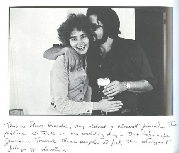 Jessica Lange con su primer marido, el profesor y fotógrafo Paco Grande, hijo del eminente científico Francisco Grande Covián, y vivió una temporada en España hasta su regreso en 1973 a Estados Unidos.