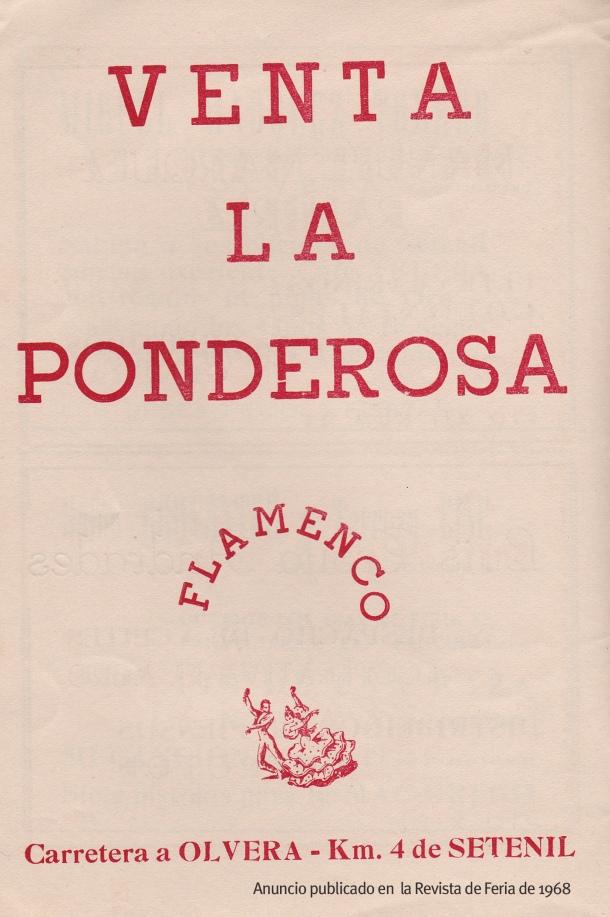 Anuncio publicitario publicado en la Revista de Feria de 1968.