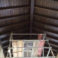 El nuevo techo de la Iglesia.