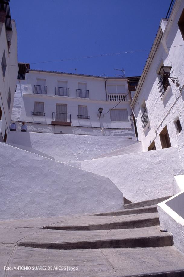 La escalera de San Benito en 1992. Foto: ANTONIO SUÁREZ.