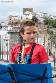 David Zarzavilla, al saxofón