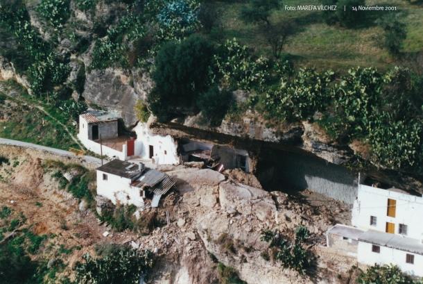 Imagen del accidente  tomada desde la Villa. Foto: MAREFA VÍLCHEZ