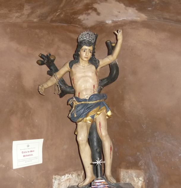 Talla original del patrón de Setenil de las Bodegas, que se encontraba en la ermita que lleva su nombre. Le faltan espinas de plata, cuyo destino se desconoce. Data del S. XVI. Foto: JACKY KOOKER REAL