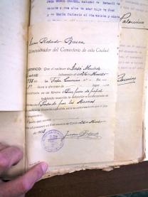 """Uno de los muchos certificados en los que se puede leer de manera concluyente y cruel: """"Pasado por las armas"""". En este caso, corresponde a José Muñoz."""