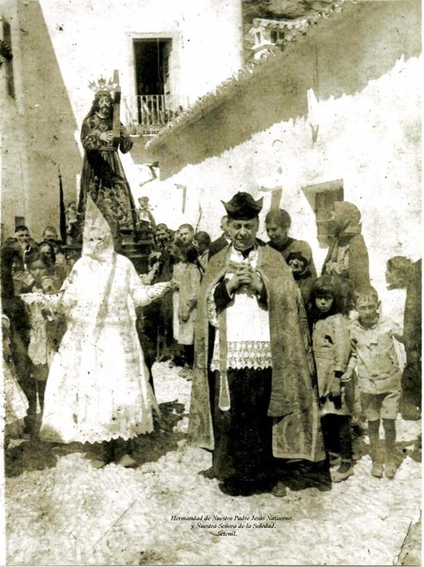 Luis Tovar, párroco de Setenil fusilado en el Puerto del Monte. Esta imagen la ha cedido Pedro Marín, Hermano Mayor de Los Negros. Tovar tiene una placa de recuerdo en la Iglesia de la Encarnación.